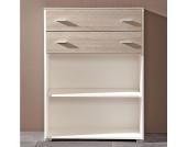 Büroregal mit 2 Schubladen Weiß
