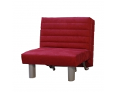 Schlafsessel Merco - Rot - Microfaser, TopDesign