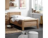 Einzelbett aus Eiche Teilmassiv online kaufen