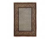 Teppich-Indo Mir Dehli Beige - Reine Wolle - 120 x 180 cm, Parwis
