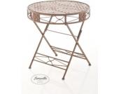 handgefertigter runder Design Klapptisch TINETTO, Durchmesser 72 cm, in nostalgischem Design (aus bis zu 2 Farben wählen) runder Eisentisch