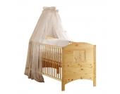 Babybett Dream - Kiefer massiv - Natur - mit Umbauseiten, Schardt