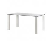 Glastisch Palma - Weiß lackiertes Glas/Lack Weiß - 180 x 90 cm, Niehoff
