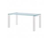Glastisch Palma - Satiniertes Glas - Weiß - 180 x 90 cm, Niehoff