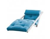 Schlafsessel Figo - Futon Weiß/Blau, Karup