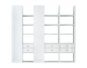 XL Regalwand Emporior V - Hochglanz Weiß, loftscape