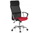 Bürostuhl / Chefsessel ORION NET Netzstoff rot/schwarz Chrom hjh OFFICE