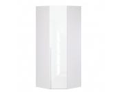 Eckschrank Melva - Polarweiß/LackWeiß - BxH: 92,3 x 216 cm, Express Möbel