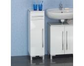 Badezimmer Unterschrank in Weiß 1 türig