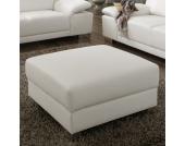 Couchhocker in Weiß Kunstleder