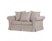 Schlafsofa Campagne (2-Sitzer) - Webstoff Beige, Maison Belfort