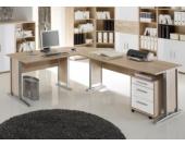 Jumbo Möbel Winkelschreibtisch OFFICE LINE in Eiche Sonoma & Weiß