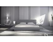 Cats Collection Design Lederbett 160 x 200cm grau mit integrierten Nachttischen