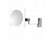 EEK A+, Kosmetikspiegel Niimi Square - Chrom - 4-flammig, Illumina