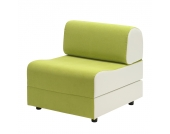 Schlafsessel Aritha - Microfaser - Grün / Weiß, Studio Monroe