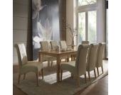 Buche Massivholztisch mit beigen Stühlen (9-teilig)