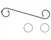 GARESA Himmelbettgarnitur geschwungen, schwarz, 1-läufig, 80 cm