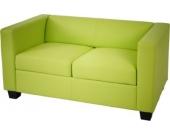 heute-wohnen 2er Sofa Couch Loungesofa Lille, Kunstleder