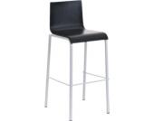 Weißer Metall Barhocker AVOLA mit Holzsitz, Sitzhöhe 76 cm, einfach bequem sitzen - aus bis zu 2 Farben wählen