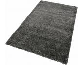 Merinos Hochflor-Teppich »INDRE«, schwarz, 80x150 cm