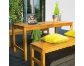 Holztisch aus Massivholz Garten