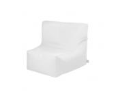 Outdoor Sitzsack in Sesselform Weiß