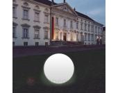 Kugelleuchte Snowball weiß mit Alu-Fuß 80 cm