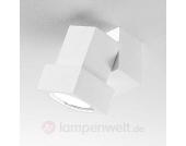 Decken- oder Wandstrahler STYLE Q mit Adapter weiß