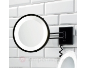 Kosmetikspiegel BS 25 schwarz, 3-fach