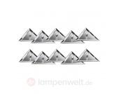 STAR LINE Deckeneinbauleuchten-Set Mirror Triangle
