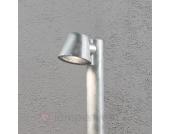 Silberne Wegeleuchte Trieste aus Stahl