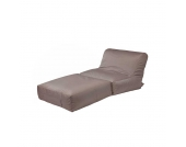 Outdoor Sitzsack Liege in Braun 180 cm breit