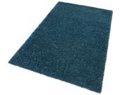 my home Hochflor-Teppich »Finn«, blau, 200x200 cm