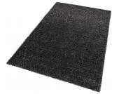 my home Hochflor-Teppich »Finn«, schwarz, 60x90 cm