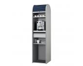 Büroschrank Dancer - Silber - Schwarz - Ohne Kühlschrank, MS Schuon