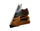 Schuhregal Horizontal - Edelstahl - Silber - 8 x 14 x 70 cm, j me