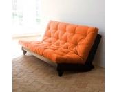 Klappcouch in Orange 140x200 cm Liegefläche