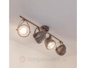 Küchenlampe Sascha mit GU10-LEDs, kupfer antik