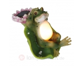 Witzige LED-Solarlampe Frosch