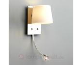 Wandleuchte SALA LED mit Leselicht, weiß