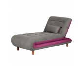 Chaiselongue Energy - Webstoff - Grau / Beere, roomscape