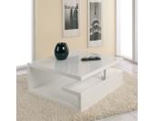 Hochglanz Wohnzimmertisch in Weiß