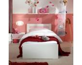 Einzelbett mit Nachtschrank (3-teilig)