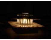 Deckenleuchte Wandleuchte aus Glas Maße ca. B/H/T 15x15x6,5 cm, silber
