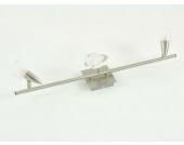 3-flutiger Deckenstrahler Metall gebürstet 230V G9/40W