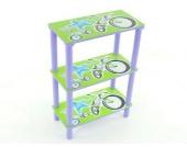 Kinderregal Bücherregal Kindermöbel - blau / grün / lila