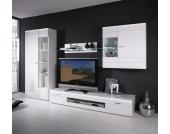 TV Anbauwand in Weiß Hochglanz (4-teilig)
