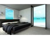 Ocean Mono Wasserbett, 200 x 200 cm, schwarz, F3