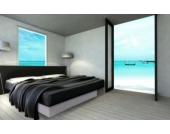 Ocean Mono Wasserbett, 140 x 200 cm, weiß, F6