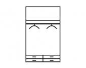 Schlafwelt Kleiderschrank, weiß, ohne Spiegel, Breite 95 cm